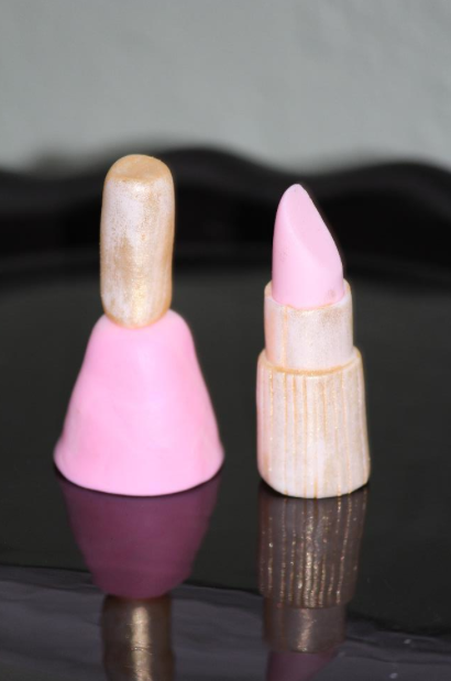 gum paste lipstick and nail polish