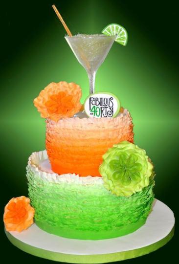 festive 40th cake