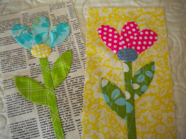 Two Floral Applique Designs