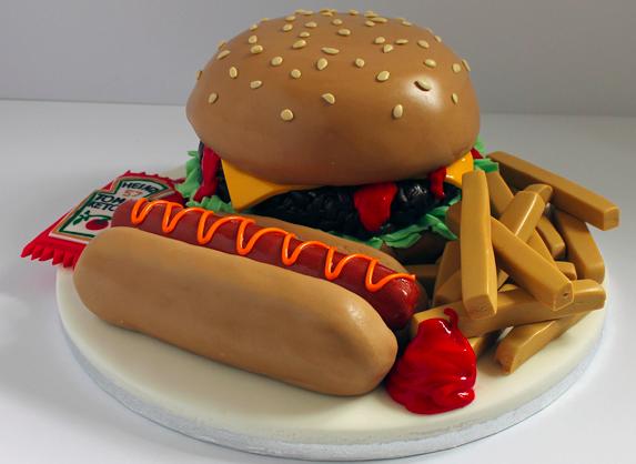 hotdog cake