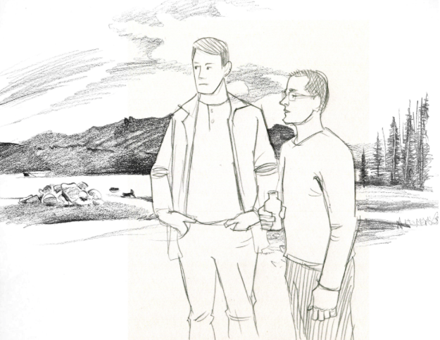 sketched background