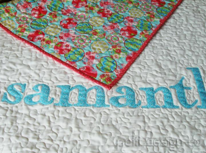 baby name quilt