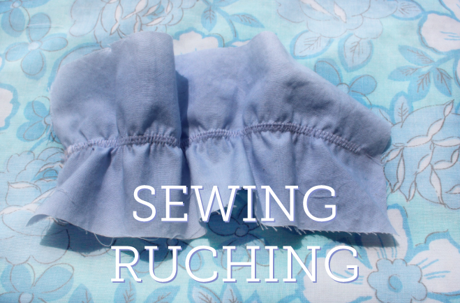 how to sew ruching