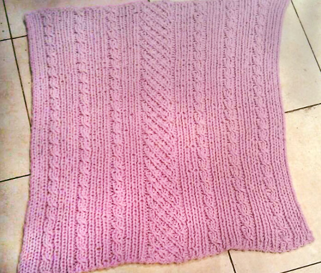 Easy-Baby-Cables Afghan