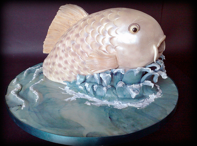 marbled water fish cake