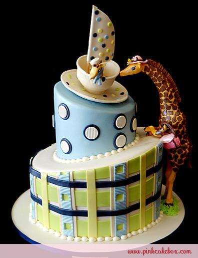 boy giraffe cake