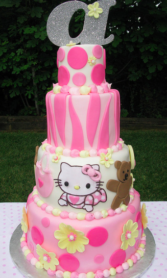 hello kitty baby cake
