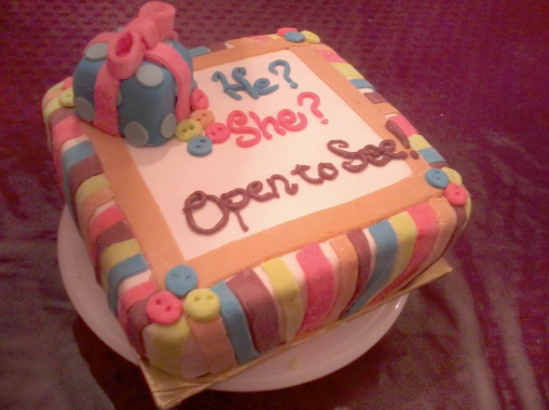 surprise baby cake