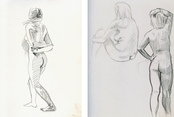 sketching poses