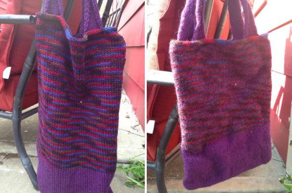 felted knit bag