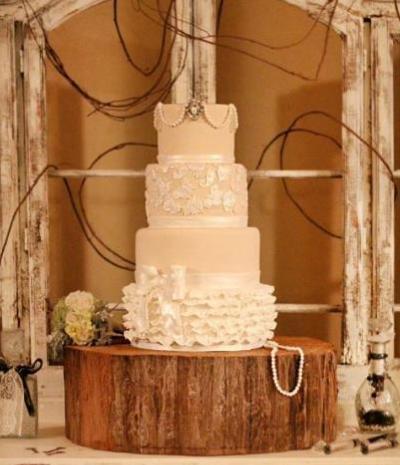 fondant pearl cake
