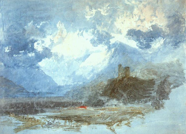 Turner: Dolbadarn Castle - Great Watercolor Artists on Bluprint