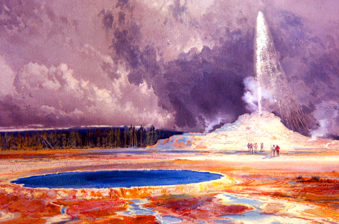 Moran: Castle Geyser - Famous Watercolor Artists, www.craftsy.com