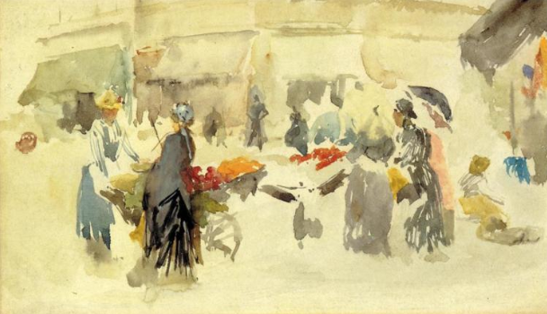 flower market watercolor