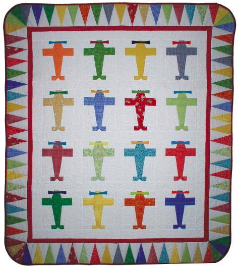 Airplane baby quilt for boys