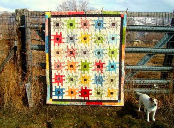 sprockets quilt, on Craftsy