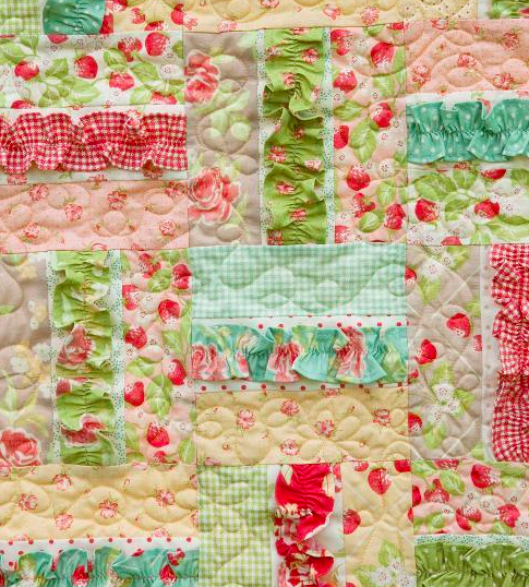 girl baby quilt with ruffles, on Bluprint