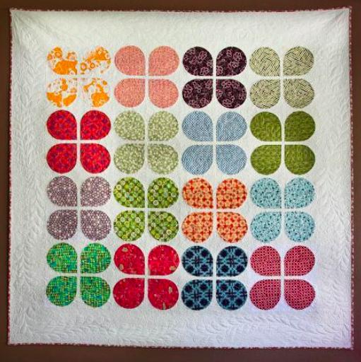 retro flowers quilt, free pattern on Bluprint