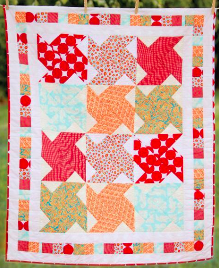 whirly patterned quilt on Bluprint