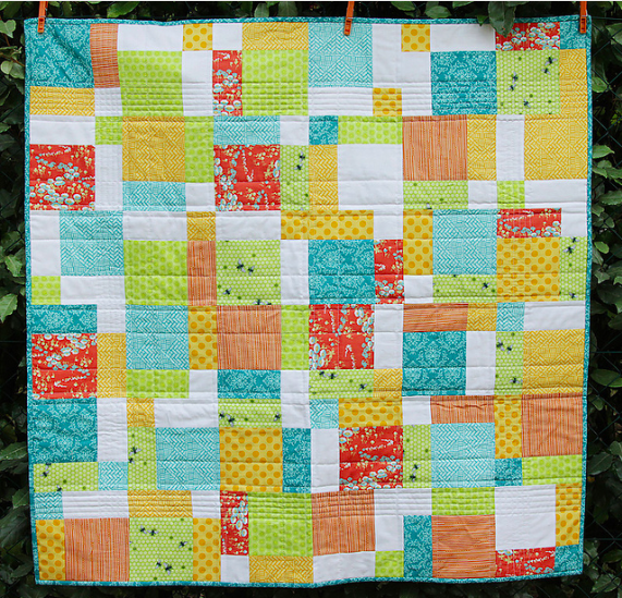 spring baby quilt design