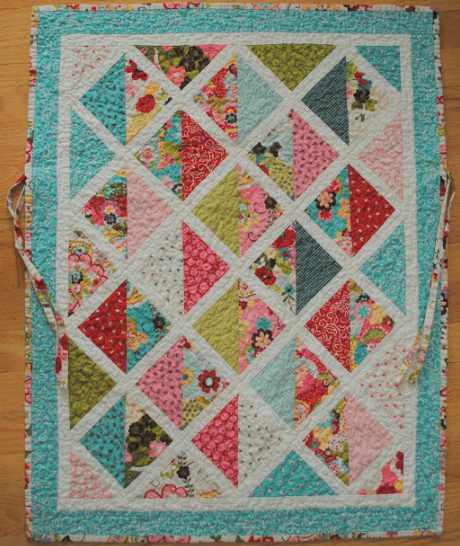 pastel car seat baby quilt on craftsy