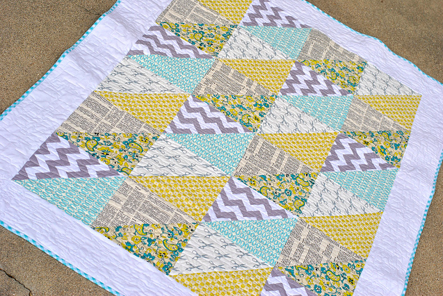 triangles quick baby quilt design
