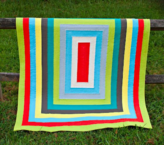 bold strip quilt