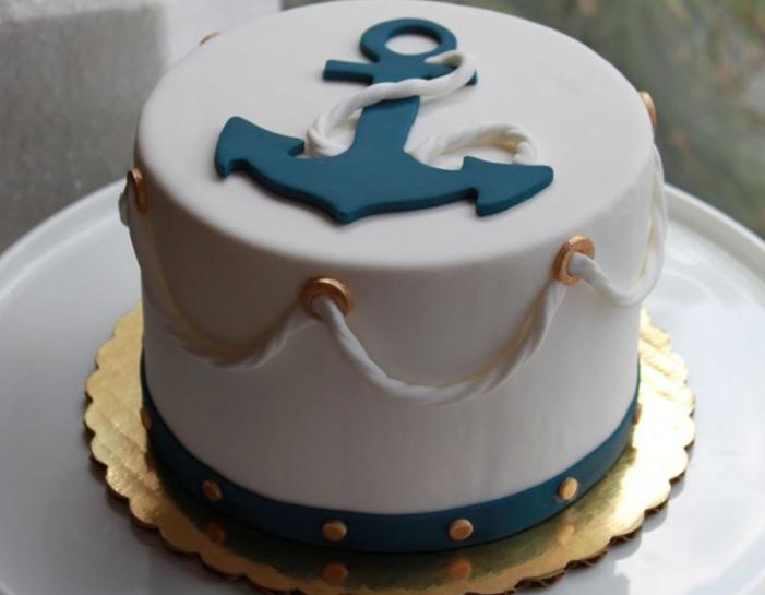 classy beach cake