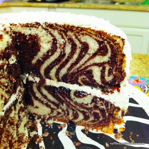zebra cake inside