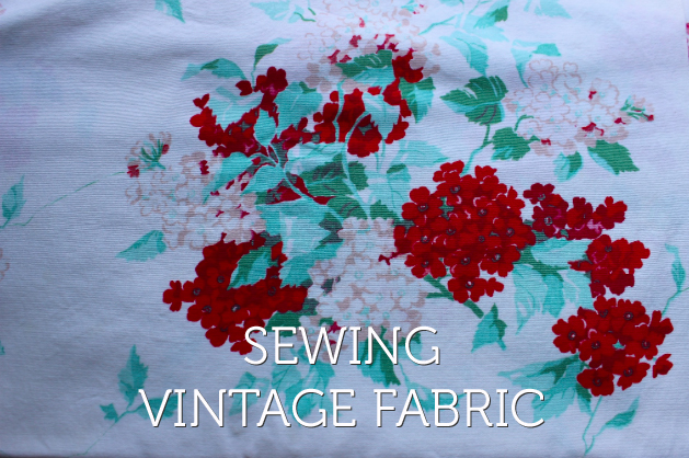 sewing vintage fabric