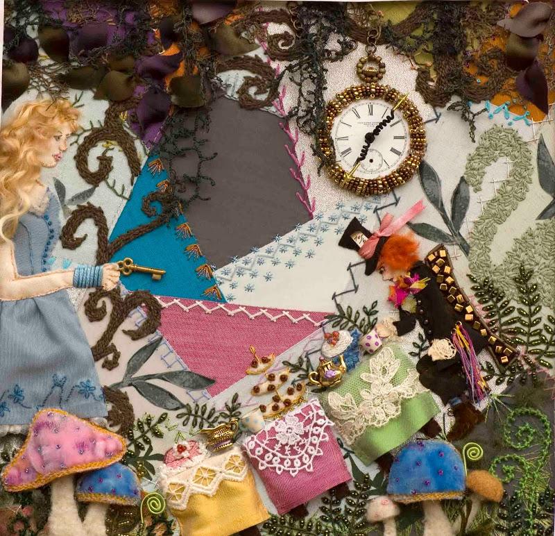Alice in Wonderland Crazy Quilt
