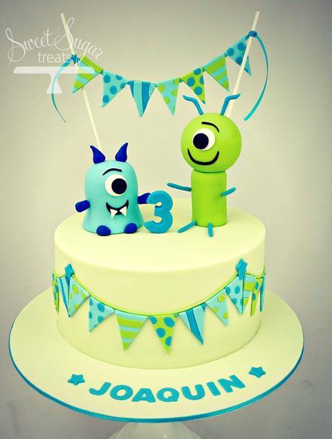 Alien Third Birthday Cake