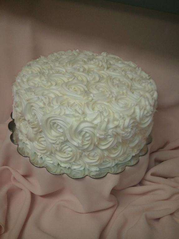 Buttercream Drop Flower Cake
