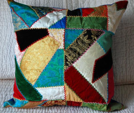 Crazy Patchwork Pillow
