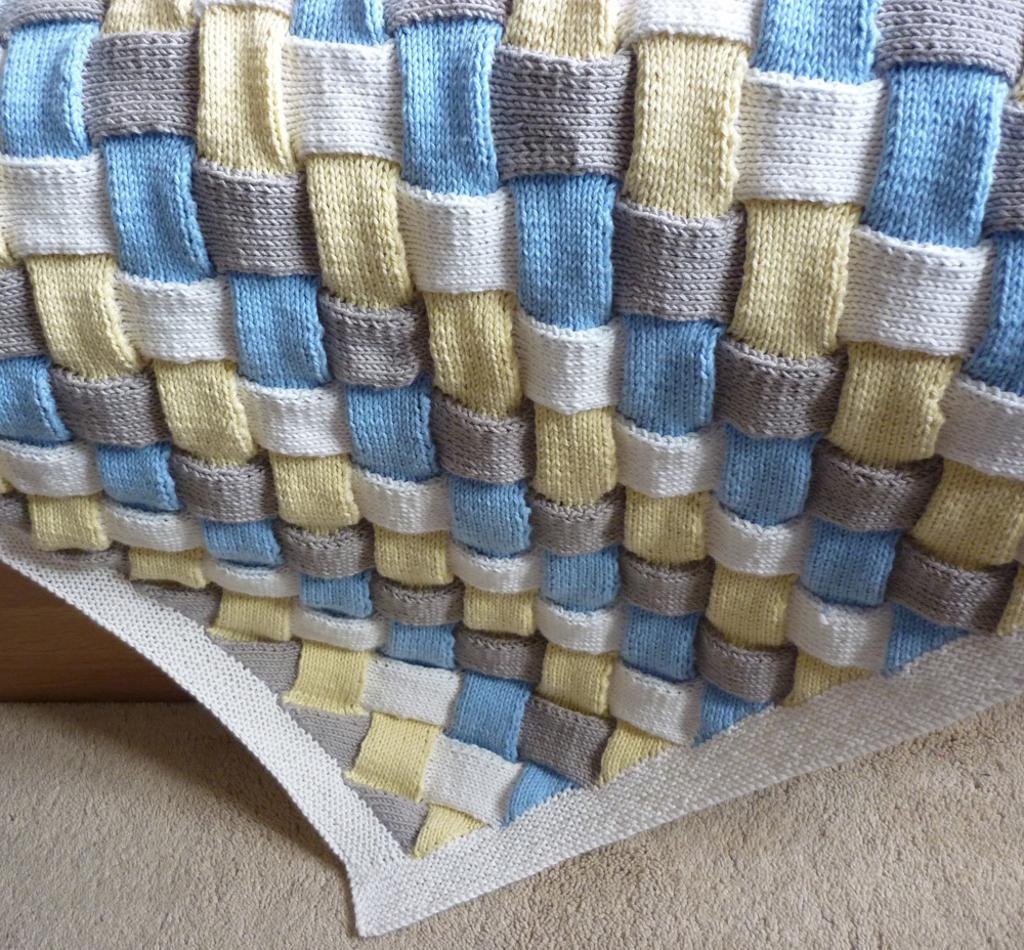 Entrelac Baby Blanket