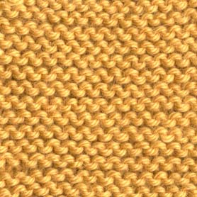 Close Up View of the Basic Knit Stitch
