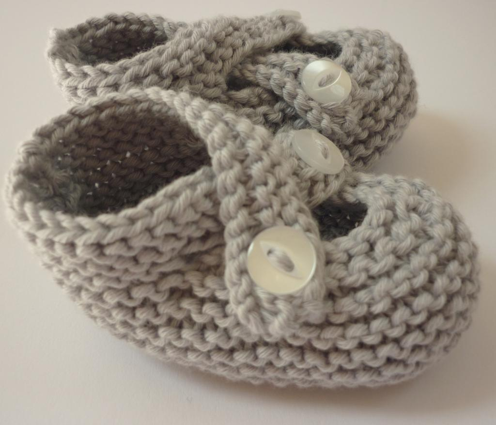 Garter Stitch Baby Shoes