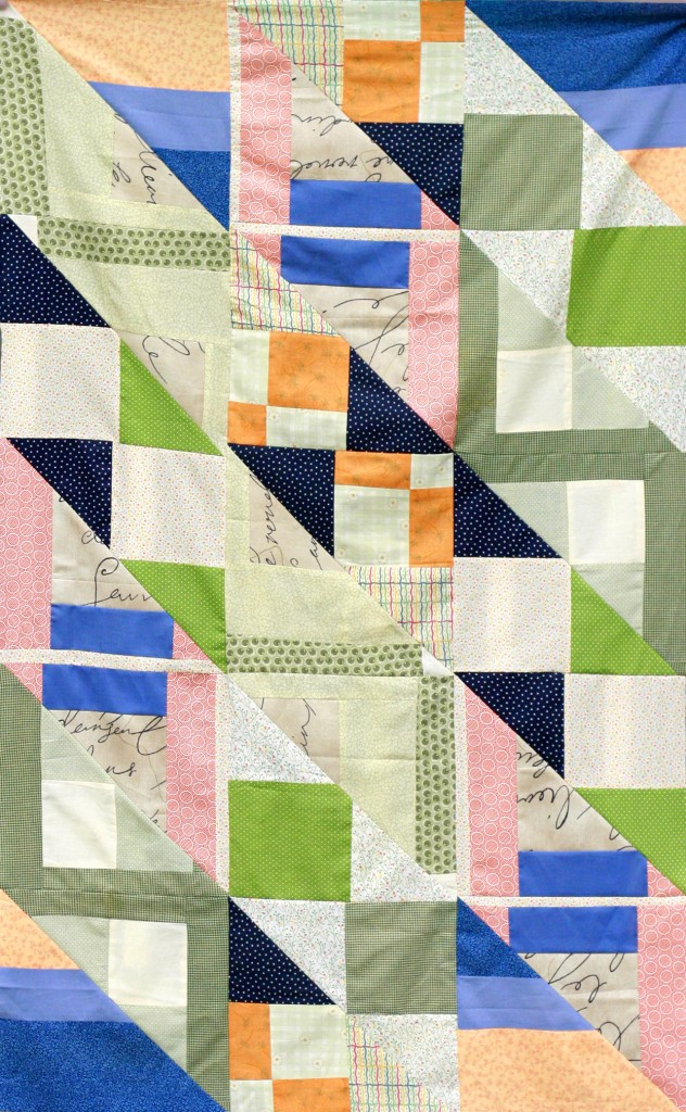 Improv Quilt with Half-Square Triangles