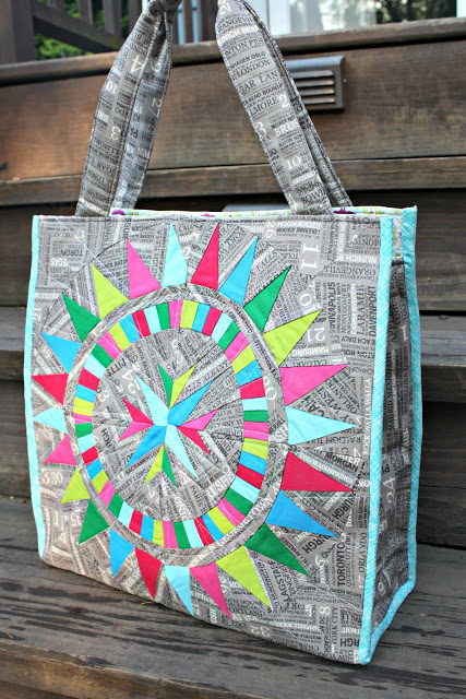 Dynamic Patchwork Market Bag
