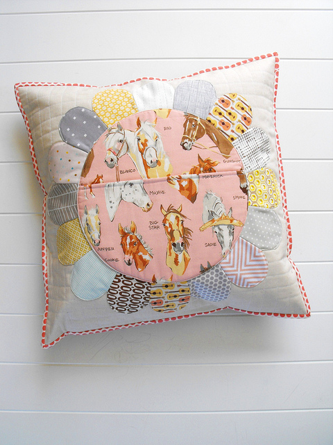 Quilted Horse Pillow