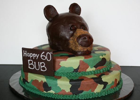hunting bear cake
