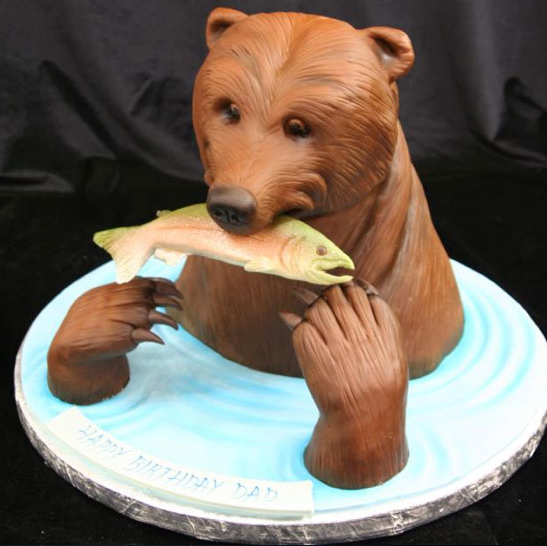 caught cake