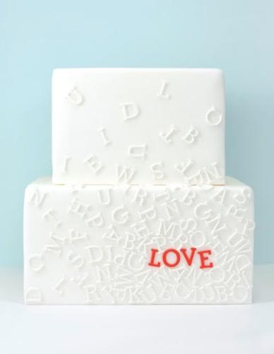 typography cake