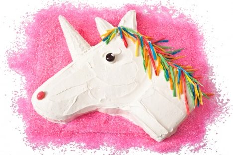 unicorn head cake