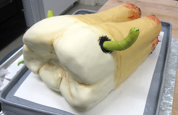 gross tooth cake