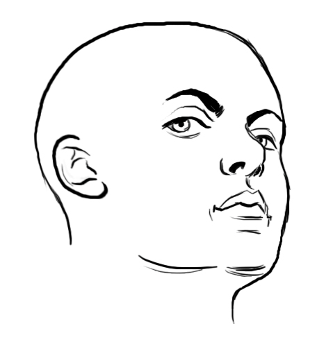 draw turning face