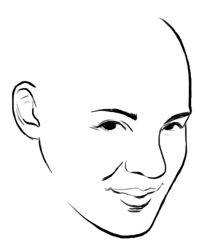 drawing shy face