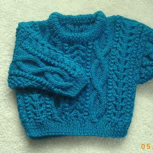 Little Blue Baby Sweater
