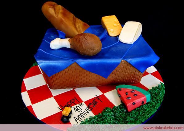 Picnic Basket Anniversary Cake