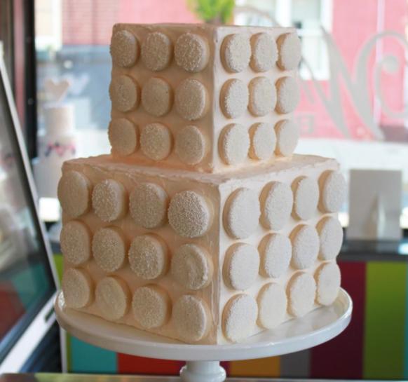 shortbread wedding cake